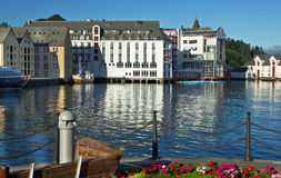 Norwegian town Alesund Royalty Free Stock Photography