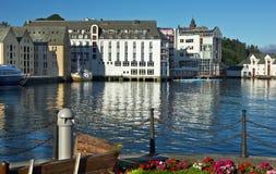 Norwegian town Alesund. Sea view on the center of Norwegian town Alesund Royalty Free Stock Photography