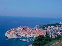 A panoramic view of the walled city, Dubrovnik Croatia royalty free stock photography