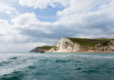 Sea view of cliffs at West Bay Dorset in UK Royalty Free Stock Photos