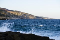 Sea view. On the clifs and bay Stock Photo