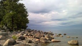 Sea view. Coast of the Baltic Sea stock photo