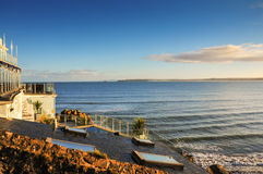Sea View in Cornwall, England Stock Photo