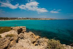 Sea view in Cyprus Royalty Free Stock Photo