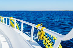 Sea view from the deck of a ship Royalty Free Stock Photography