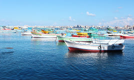Sea View & Fishing boat royalty free stock photos