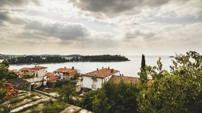Sea view form the Rovinj town royalty free stock images