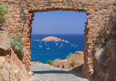 Sea view from the fortress arch Stock Image