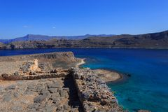 Sea view from the fortress on the island Gramvousa Royalty Free Stock Image