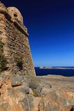 Sea view from the fortress on the island Gramvousa Stock Photography