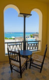 Sea View From A Hotel Room Balcony Stock Photography