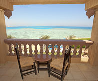 Sea View From A Hotel Room Balcony Royalty Free Stock Photography