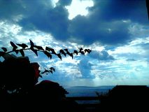 Amazing sky in autumn turkey royalty free stock image