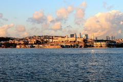 Golden Horn. Sea view from Golden Horn royalty free stock photography