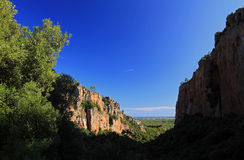 Sea View from The Gorges D'Blavet, The Var Royalty Free Stock Photo