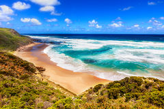 Sea view from Great Ocean Road in Australia Stock Image