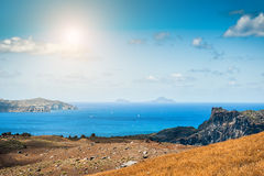 Sea view on the Greek Islands Stock Photo
