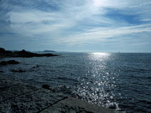 Sea View from Guernsey Channel Islands Stock Photography
