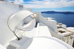 The sea view hammock at luxury hotel Royalty Free Stock Photo