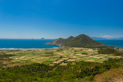 Sea view with a hills in Vietnam. Spectacular view to the sea and hills in Vietnam Stock Photos