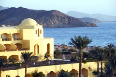 Sea view hotel Egypt Royalty Free Stock Images