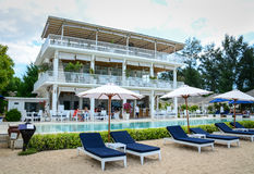 Sea View Hotel in Gili Meno island, Indonesia Royalty Free Stock Photos