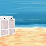 Sea view illustration Stock Photography