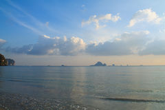 Sea view with impressive sky Stock Photography