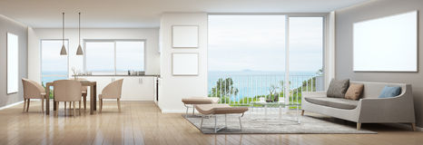 Sea view interior Stock Photography