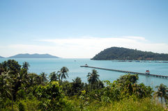 Sea view kho chang islands. In thailand royalty free stock image