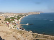 Sea view. Sea landscape in Sudak. The view without any borders Stock Photography