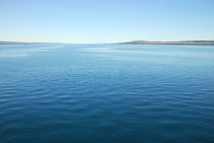 Sea view with landside. A seaview from canakkale istanbul, ver small waves Royalty Free Stock Photos
