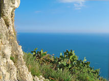 Sea view Letojanni Sicilia Italy Royalty Free Stock Photography