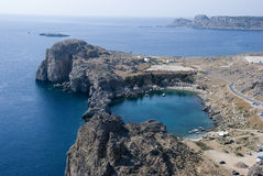 Sea view from Lindos Royalty Free Stock Image