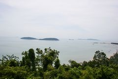 Sea view, top view of Southern Thailand Royalty Free Stock Photography