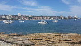 Sea view at Manly, New south wales Stock Photos