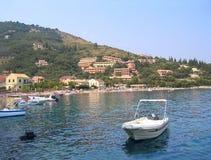 Sea view of Mediterranean resort Royalty Free Stock Photos
