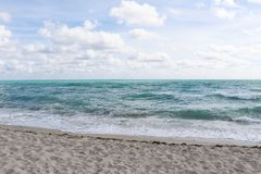 Sea view from Miami beach stock photography
