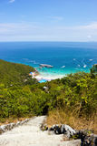 Sea view from mountain in Lan island Stock Photos