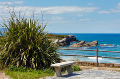 Sea view from observation area. Royalty Free Stock Photo