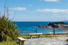 Sea view from observation area. Stock Photography