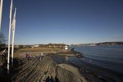 Sea view at oslo city royalty free stock photos