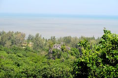Sea view over the Jungle, south of Thailand. Asia Royalty Free Stock Images