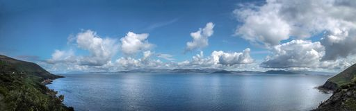 Sea view panorama at the Ring of Kerry Royalty Free Stock Photos