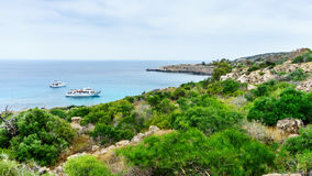Sea view from the park Cavo Greco. In Ayia Napa Royalty Free Stock Image