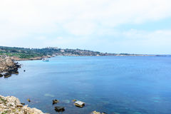 Sea view from the park Cavo Greco. In Ayia Napa Stock Image
