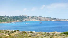 Sea view from the park Cavo Greco. In Ayia Napa. Cyprus Royalty Free Stock Images
