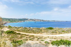 Sea view from the park Cavo Greco. In Ayia Napa. Cyprus Stock Images