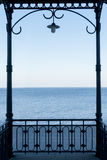 Sea view from a pavilion Royalty Free Stock Image