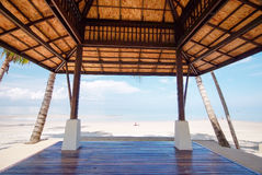 Sea view from pavilion, Koh Chang island, Thailand Royalty Free Stock Photo